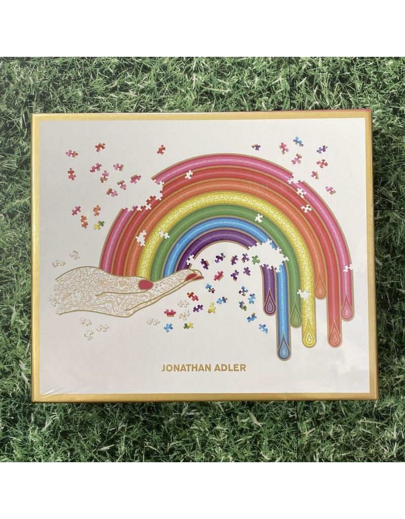 Galison 750 Piece Shaped Rainbow Hand Adler Puzzle