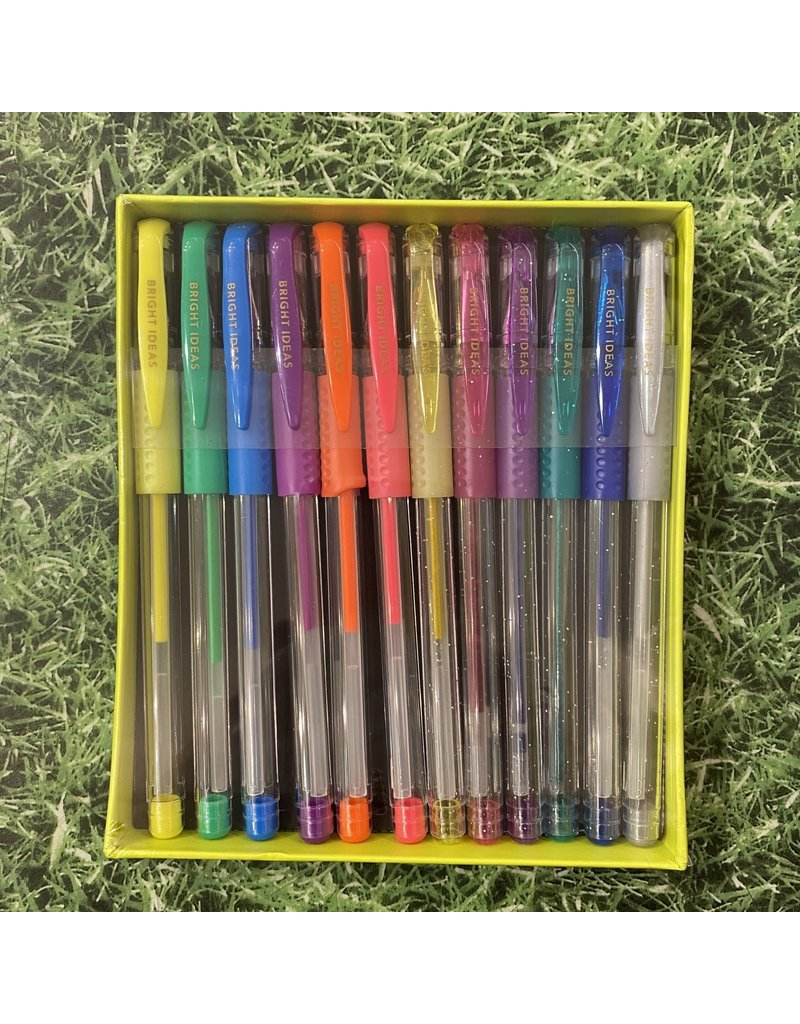 Chronicle Books Bright Ideas Neon And Glitter Gel Pens
