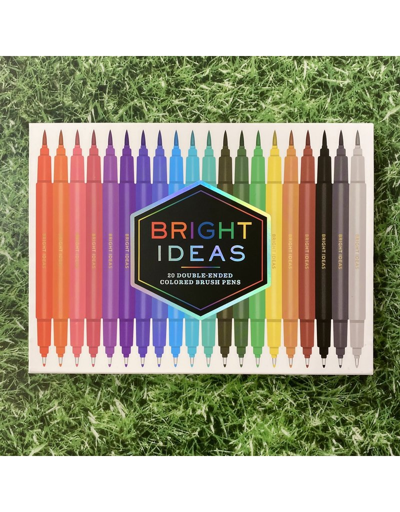 Chronicle Books Bright Ideas 20 Double Ended Brush Pens
