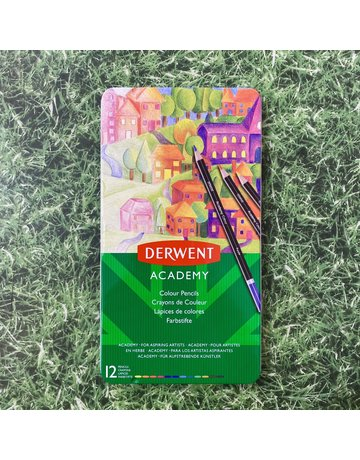 Derwent Derwent Academy Tin 12 Colouring Pencils