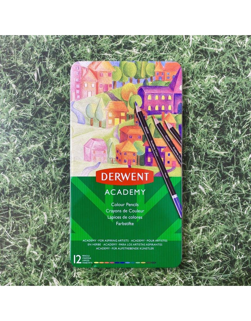 Derwent Derwent Academy Tin 12 Colouring Pencils