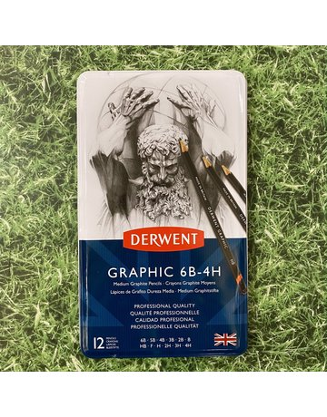 Derwent Derwent Graphic Tin 12 Pencils Medium