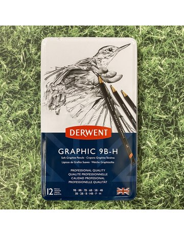Derwent Derwent Graphic Tin 12 Pencils Soft