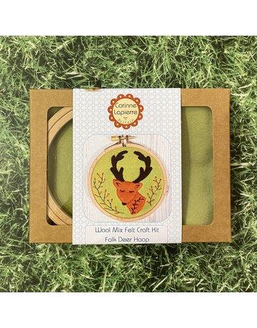 Corinne Lapierre Folk Deer Applique Hoop Embroidery Kit