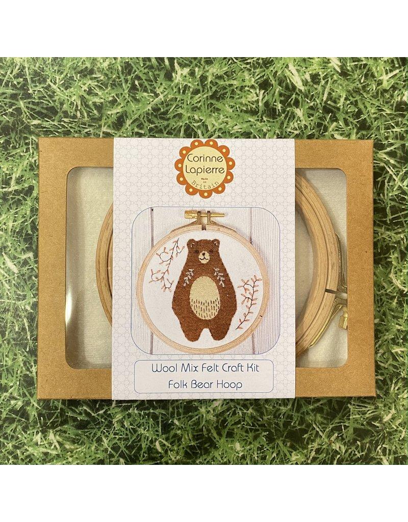 Corinne Lapierre Folk Bear Applique Hoop Embroidery Kit