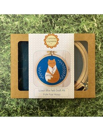 Corinne Lapierre Folk Fox Applique Hoop Embroidery Kit