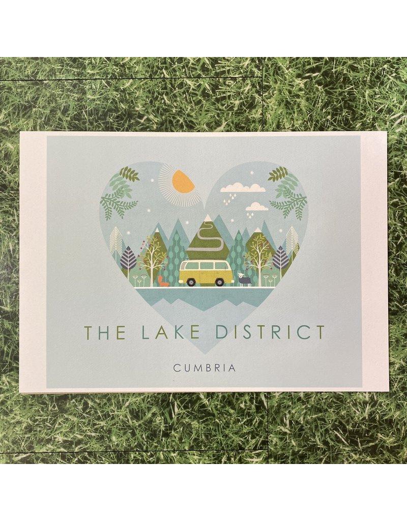 Hilberry Designs A4 Print The Lake District