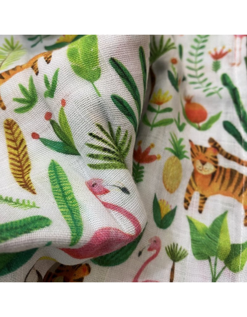 The Fox In The Attic Tropical Muslin Swaddle Blanket