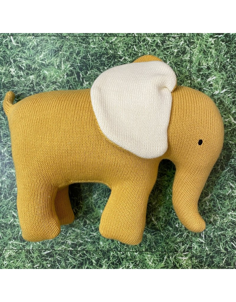 Best Years Yellow Knitted Elephant Large