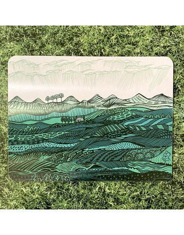 Lush Designs Lush Table Mat Teal Landscape