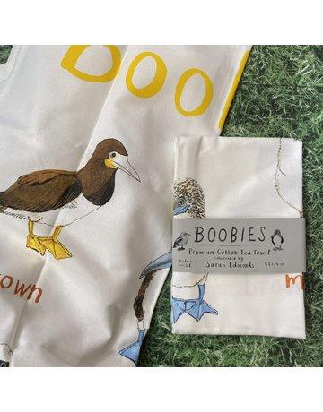 Sarah Edmonds Boobies Tea Towel