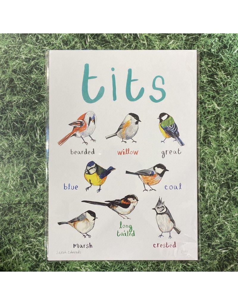 Sarah Edmonds Tits Print A4