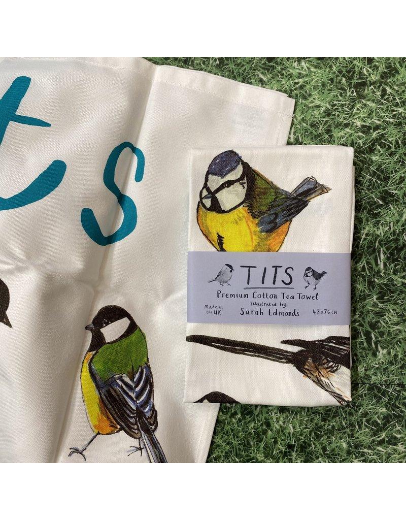 Sarah Edmonds Tits Tea Towel