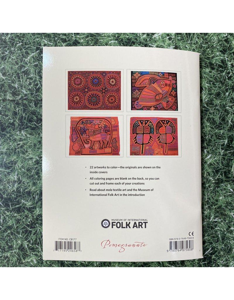 Pomegranate Colouring Book Mola Designs