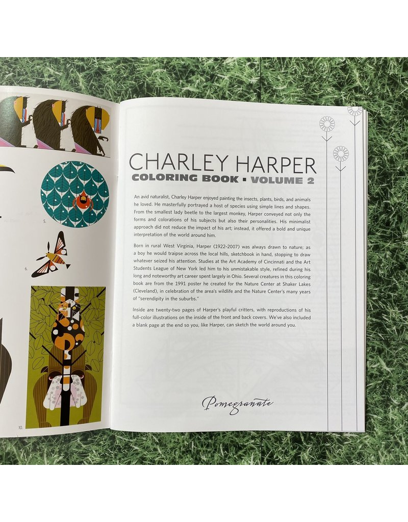 Pomegranate Colouring Book Charley Harper
