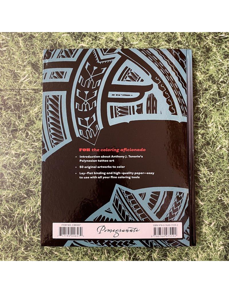 Pomegranate Hardback Colouring Tattoo Polynesian Art