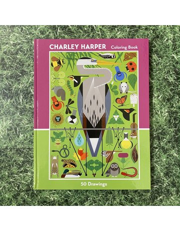 Pomegranate Hardback Colouring Book Charley Harper
