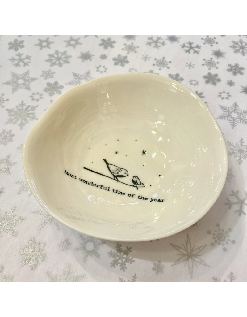 East of India Porcelain Bowl Most Wonderful Time Of Year