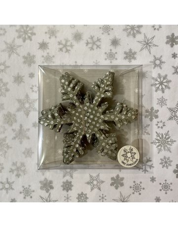 East of India String Of Snowflakes Grey Sparkly