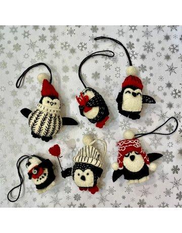 Fiona Walker Mini Felt Hanging Penguin