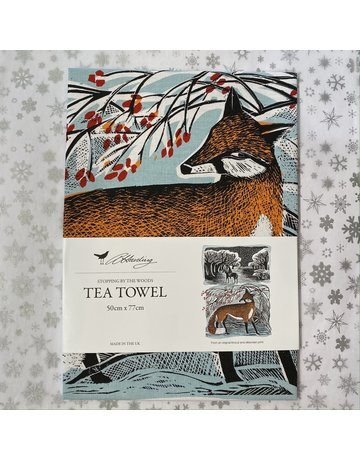 Angela Harding Tea Towel Stopping By The Woods