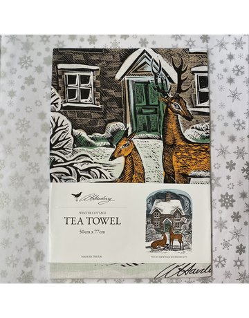 Angela Harding Tea Towel Winter Cottage
