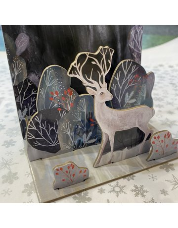 Roger La Borde Pop And Slot Silver Stag Table Decoration