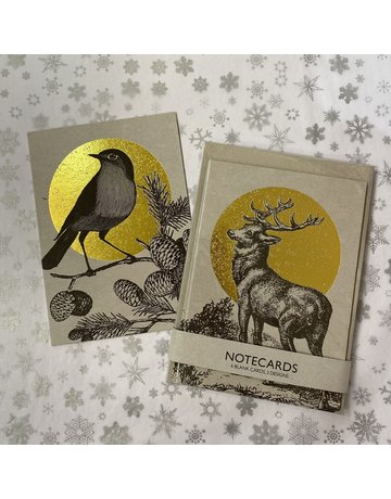 JenRowland Stag And Robin Notecard Pack