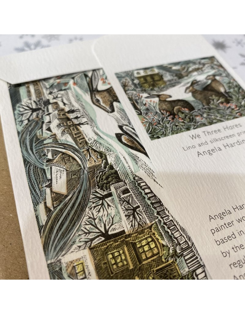 Art Angels Holly And Hare Notecard Set