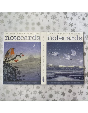 Art Angels Swans And Robin Notecard Set