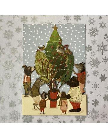 Roger La Borde Laser Cut Card Christmas Procession