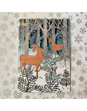 Roger La Borde Laser Cut Card Magical Deer