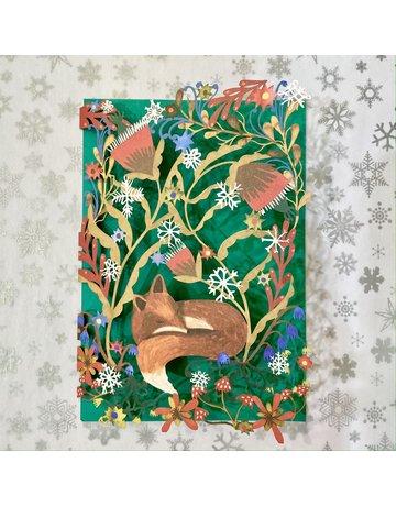 Roger La Borde Laser Cut Card Sleeping Fox