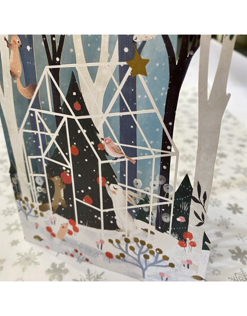 Roger La Borde Laser Cut Card Winter Garden