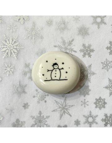 East of India Porcelain Pebble Let It Snow