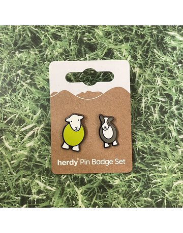 Herdy Herdy Sheppy Pin Badge Set