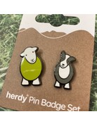 Herdy Herdy Sheppy Pin Badge Set