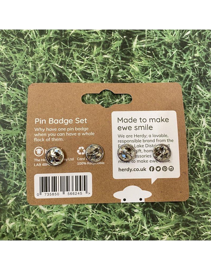 Herdy Herdy Pin Badge Set