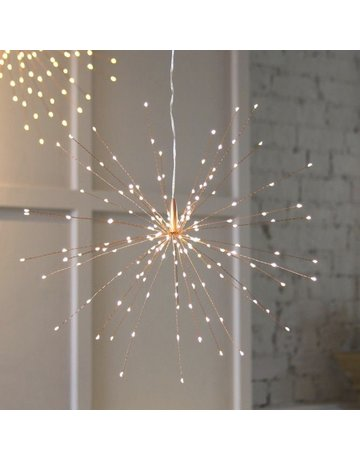 LightStyle Hanging Starburst Copper 200 LED