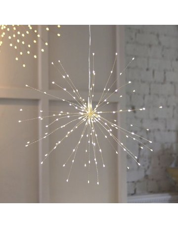 LightStyle Hanging Starburst Silver 200 LED
