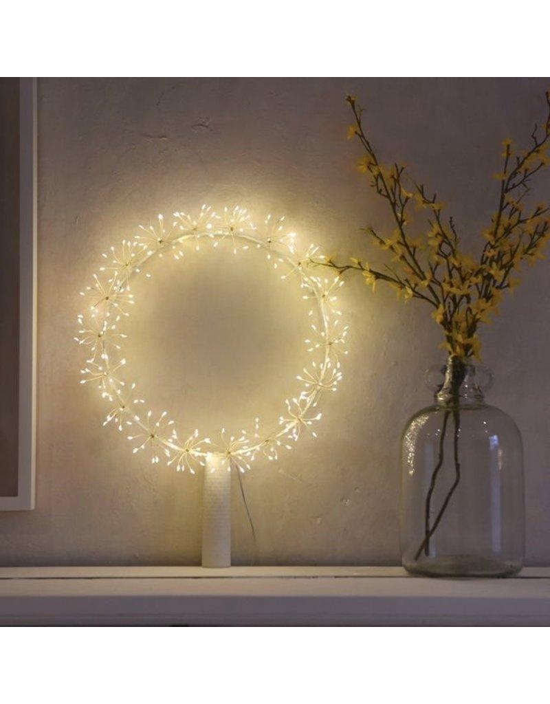 LightStyle Starburst Silver Wreath Large