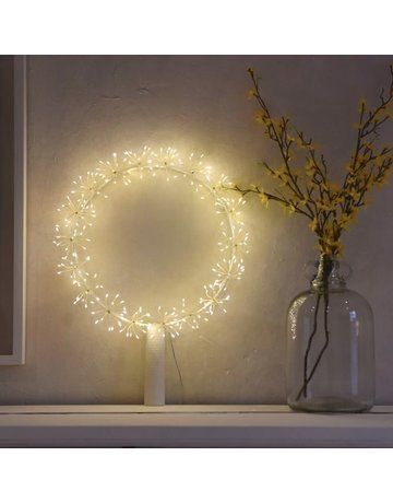 LightStyle Starburst Silver Wreath Small