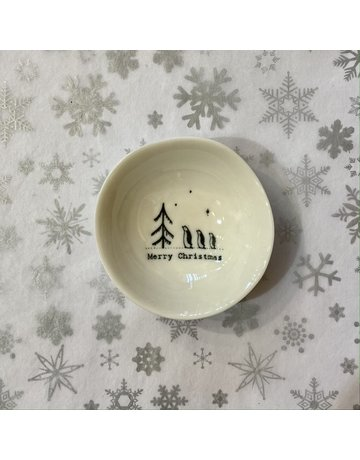 East of India Porcelain Bowl  Merry Christmas