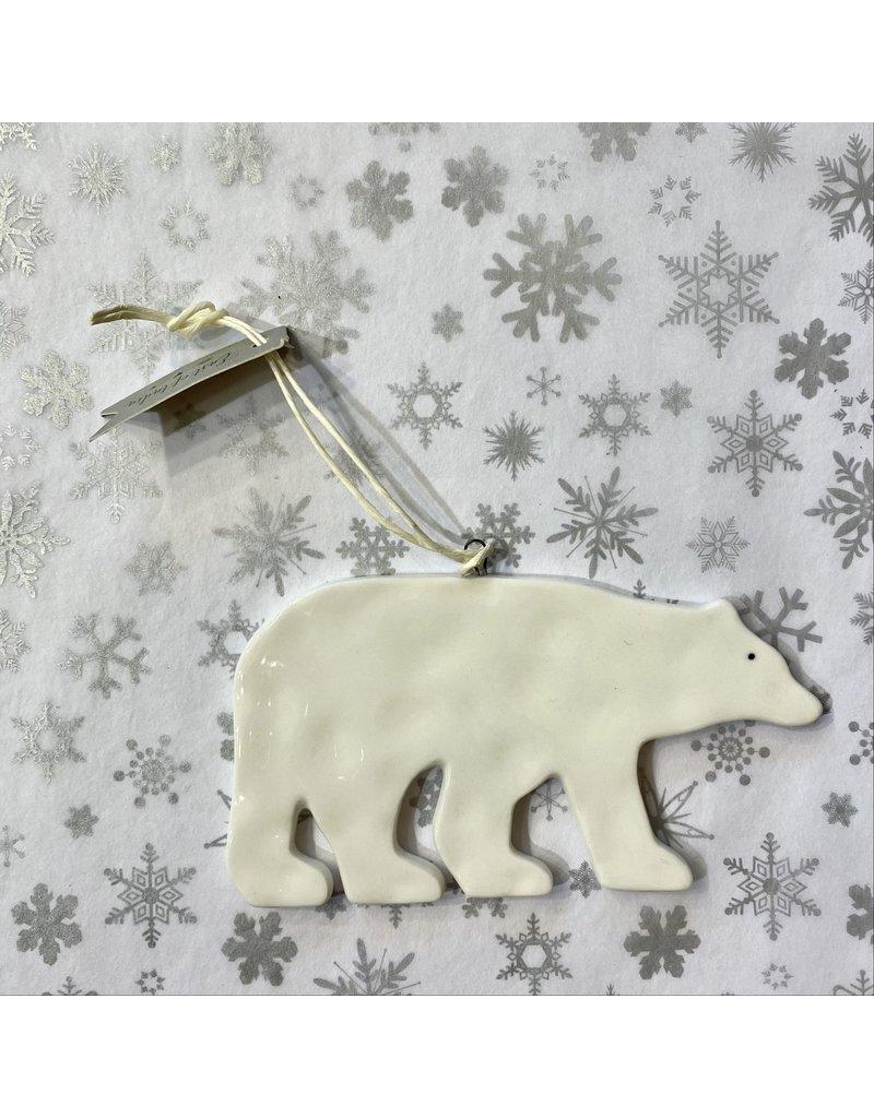 East of India Hanging Porcelain Polar Bear