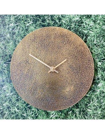 Nkuku Brass Clock Small