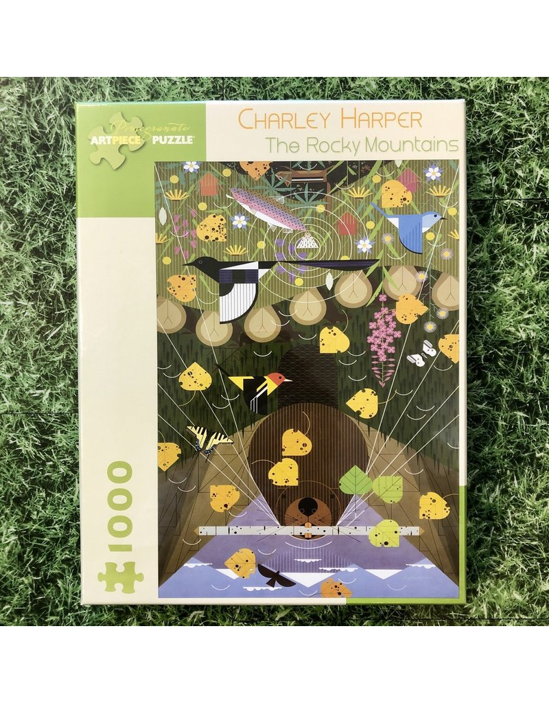 Pomegranate Charley Harper Rocky Mountains 1000 Piece Puzzle