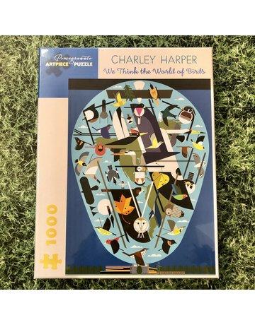 Pomegranate Charley Harper World Of Birds 1000 Piece Puzzle