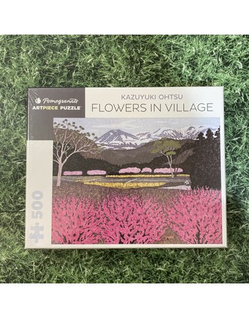 Pomegranate 500 Piece Puzzle Flowers In Village