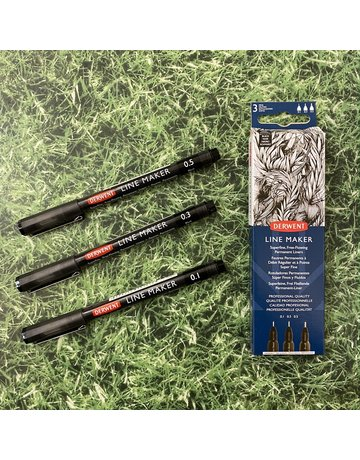 Derwent Derwent Line Maker Black Set Of 3
