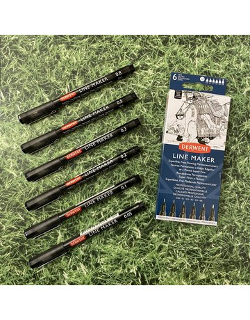 Derwent Derwent Line Maker Black Set Of 6